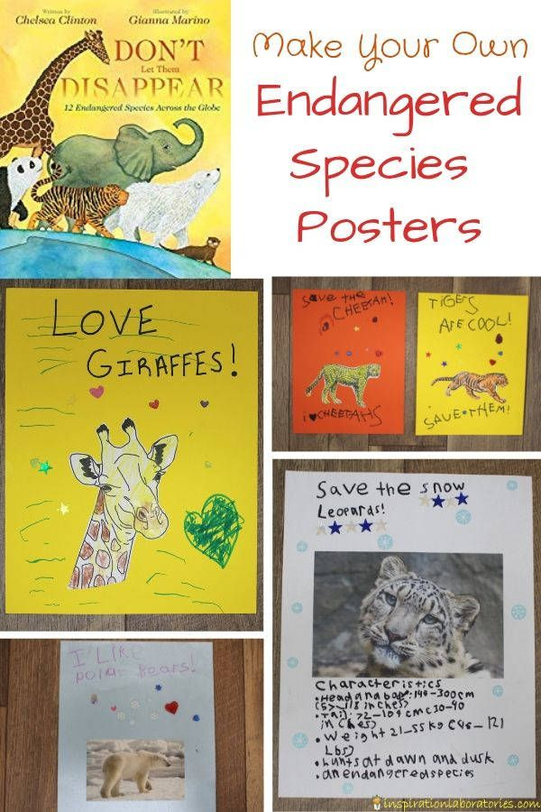 Endangered Species Poster Project Endangered species