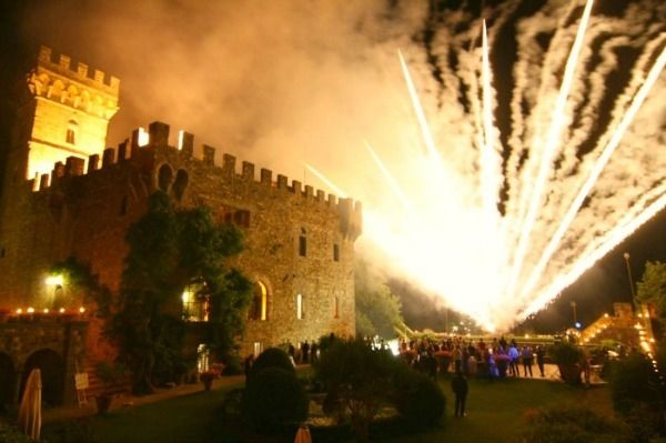 Wedding reception in the luxury castle in Florence