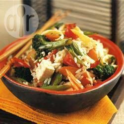 Recipe Picture:Fried rice with tofu & vegetables