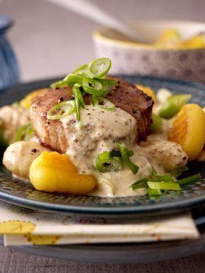 Leckeres Steak zum Abendessen nach einem anstrengenden Tag!