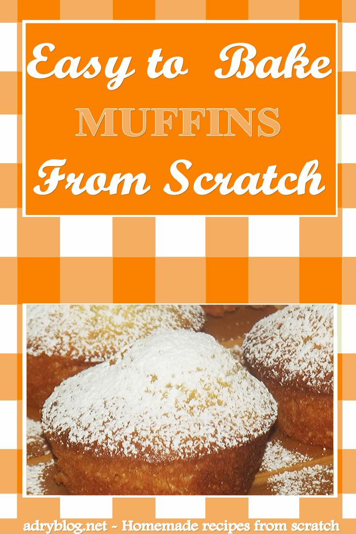 Want to learn how to bake basic muffins from scratch? Simple! You only need few ingredients and in half hour, you'll easily bake a batch of fresh muffins.