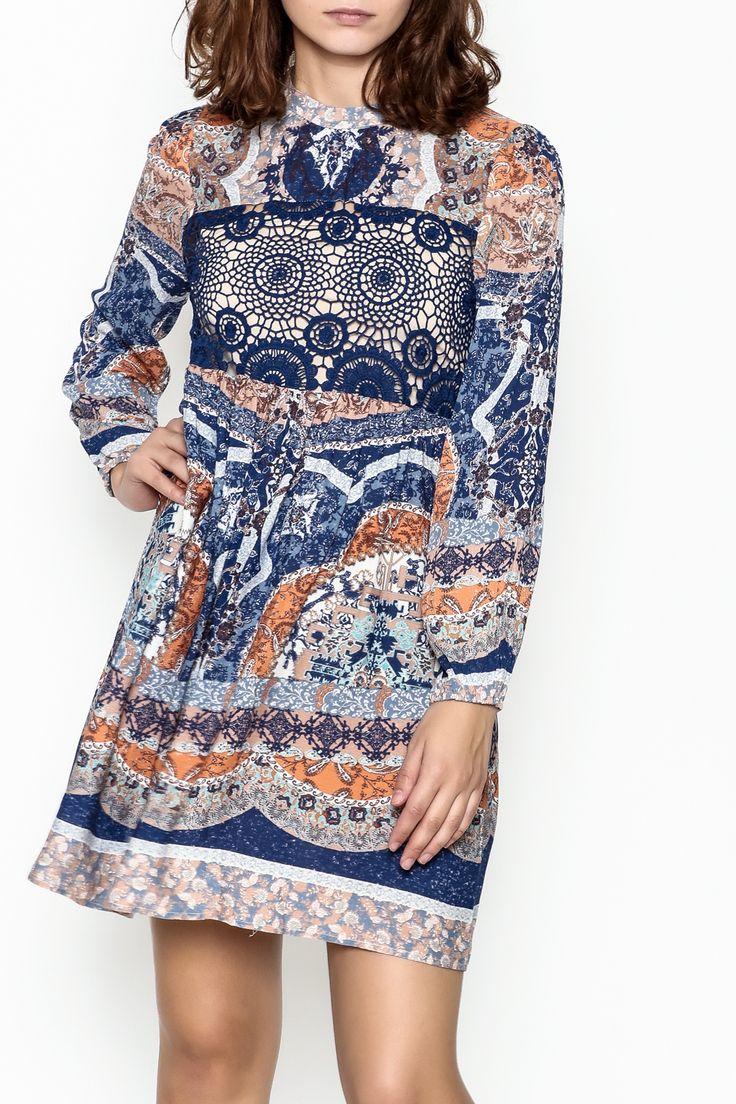Lulumari Lace Panel Dress - Main Image