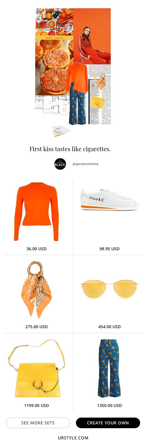 soundtrack: arcade fire - sings of life  #orange #spring #springstyle #chic #casualchic #nike #cortez #nikecortez #nikexkennymoore #orangejuice #gucci #folralpants #croppedpants #trousers #floraltrousers #croppedtrousers #wideleg #chloe #yellow #hermes #urbanchic #brightcolors #brightorange#fashion #ootd #inspiration #style #stylization #urstyle #styleset #fashionable #items