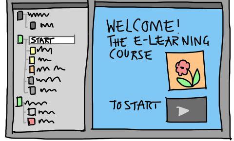 e-learning course mockup