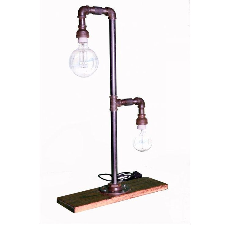Tiffany Lamp, metal pipe double hook lamp.
