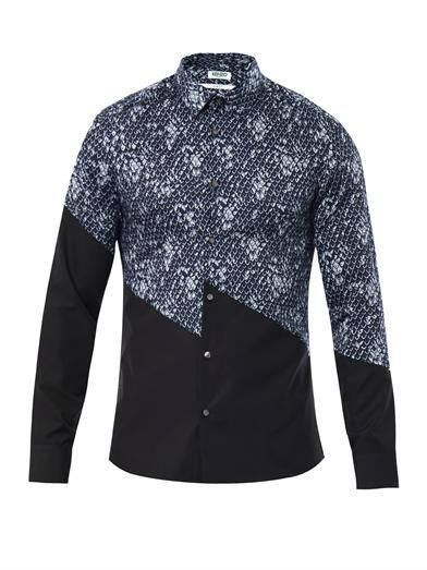 Mountain and dragon scale-print shirt | Kenzo | MATCHESFASHION...