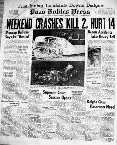 james dean car accident | ... coverage of weekend accidents including James Deans fatal accident