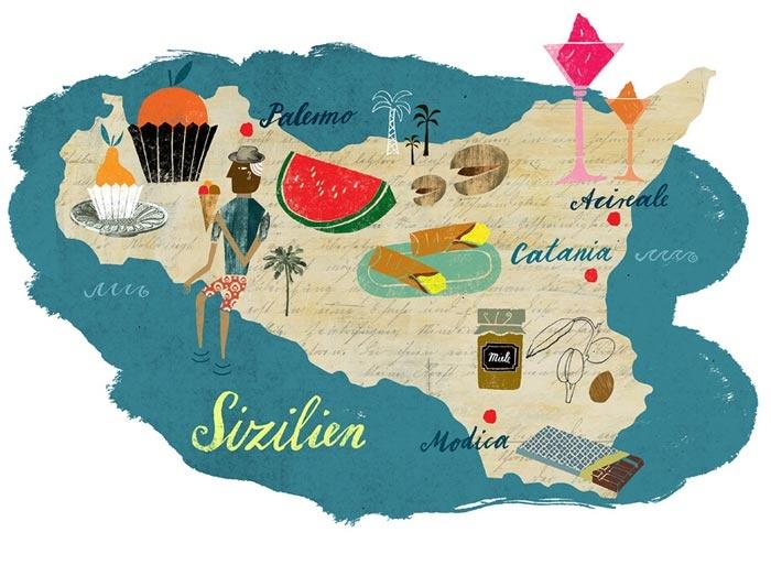 Martin Haake - Map of Sicily