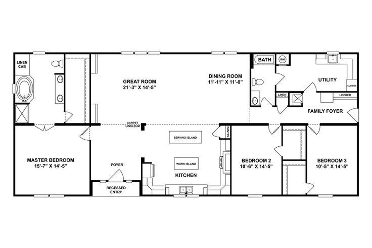 45 best mobile home plans images on pinterest floor for The veranda clayton homes