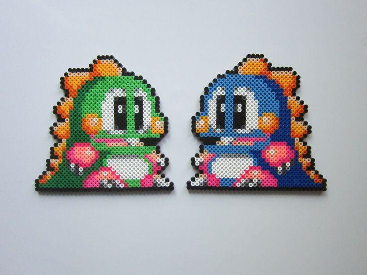 Bub and Bob Bubble Bobble perler bead sprite by 8-BitBeadsStudio on deviantART
