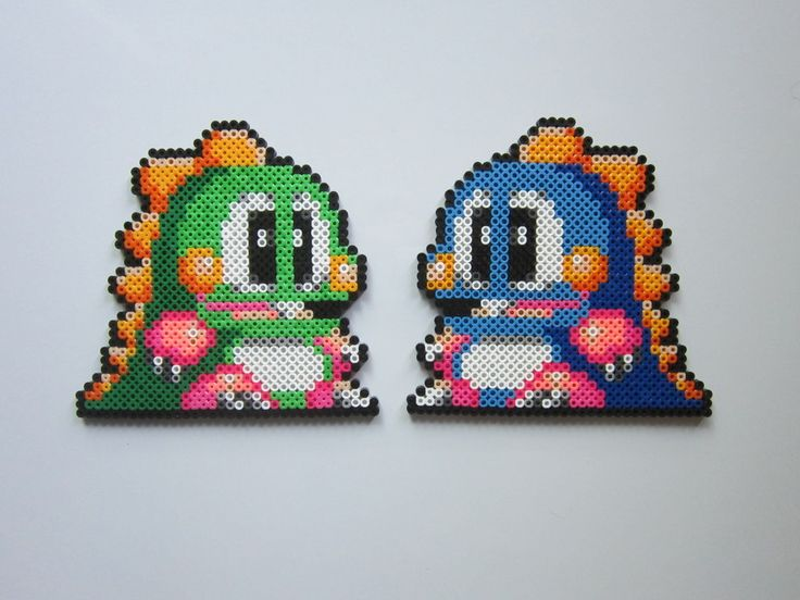 Bub and Bob Bubble Bobble perler bead sprite by 8-BitBeadsStudio on deviantART