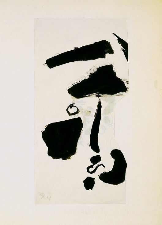 Hans Richter, Portrait de Tristan Tzara, 1917, encre sur papier, 27.3x13.2cm