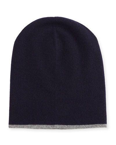 Brunello+Cucinelli+Cashmere+Reversible+Hat+W+Fold+Over+Brim+ +Headwear+and+Accessory