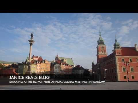 Speaking in Warsaw at the IIC Partners global meeting – Janice Reals Ellig   Janice Reals Ellig