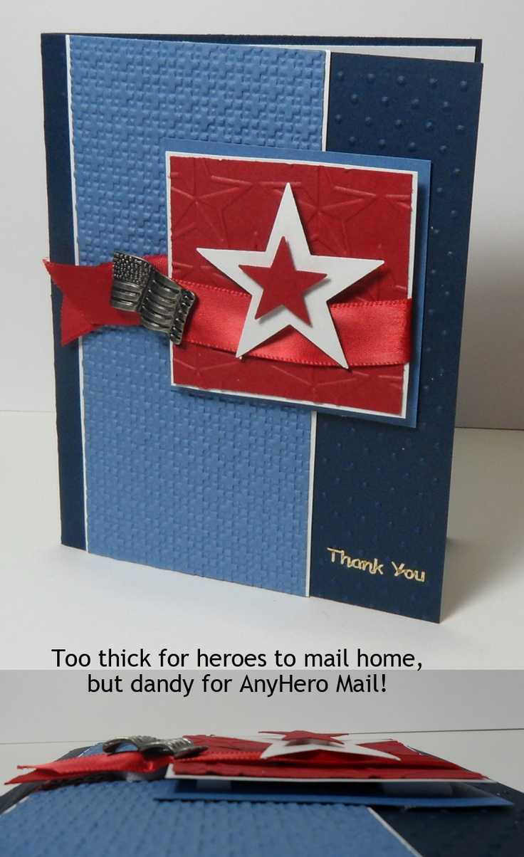 Scrapbook ideas military - Thank You Card For Military Owh Stars And Stamps Saturday Seminar Series