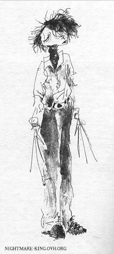 'Scissorhands' sketch by Tim Burton