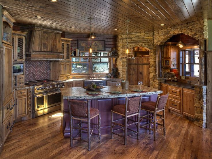 Dream Rustic Kitchens