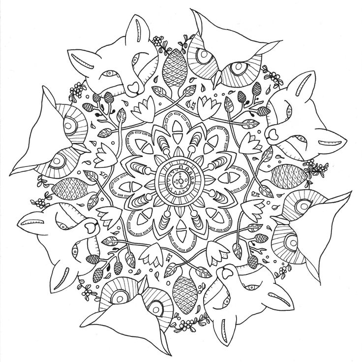 Adult Coloring Pages Mandala Collection 5 3