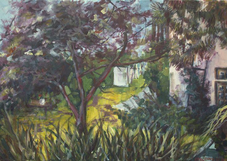 Colorful garden, Jagoda Cerkiewnik on ArtStation at https://www.artstation.com/artwork/AXrze