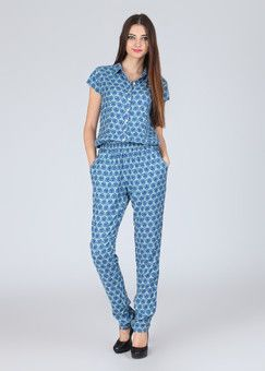 Amari West Printed Women's Jumpsuit: Jumpsuit