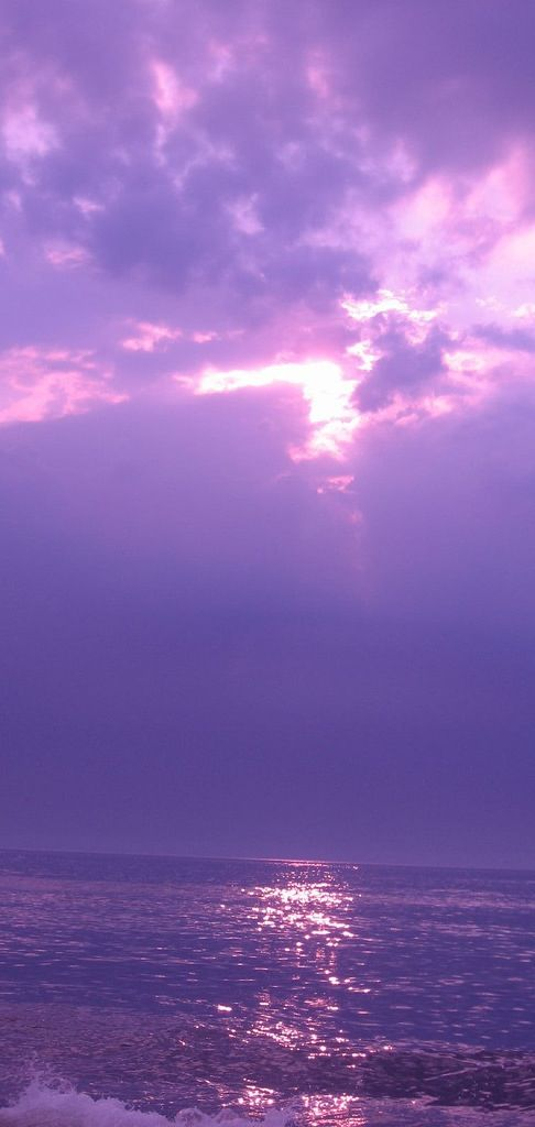 ~♡Most times it's blue... but at times it's yellow, or orange, or red, or triple colours even. But this purple sky is something else... Subhana'Allah♡~