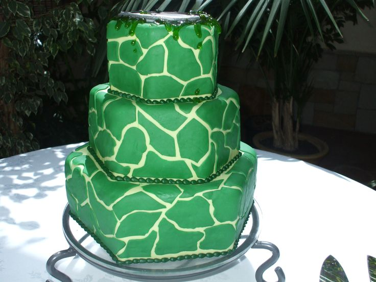 Ninja Turtle Theme Wedding Cake