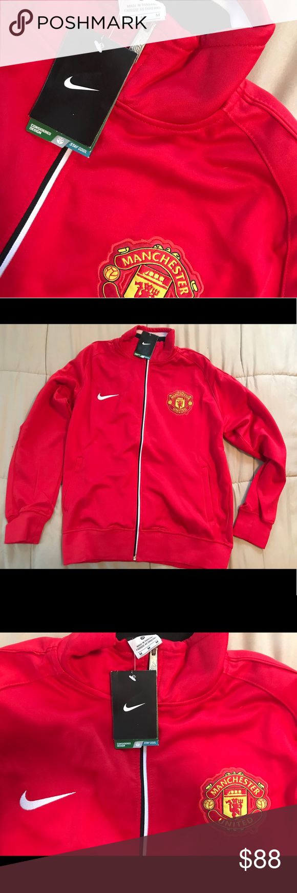 Nike Manchester United Jacket Mens Medium Nike Manchester United track jacket - Men's medium - brand news original tags still attached Nike Jackets & Coats Utility Jackets