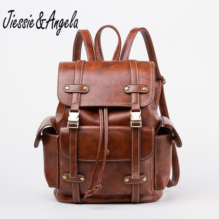 Jiessie & Angela New Fashion Leather Backpack For Teenagers Girls Women Backpacks Travel Daypacks Bolsas Mochila Shoulder Bag //Price: $29.64 & FREE Shipping //     #hashtag2