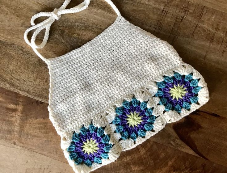 Pattern: Granny Square Crop Top - Evelyn And Peter Crochet