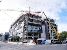 Gaunt street Datacom - steel concrete and aluminium construction. Architectus