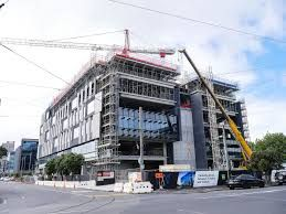 Gaunt street Datacom - steel concrete and aluminium construction. Architectus