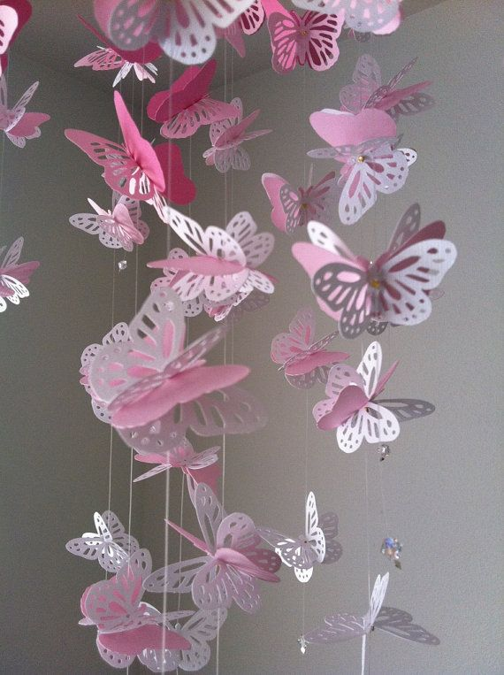 Carta pizzo Lampadario farfalla monarca Mobile  Mix bianco e