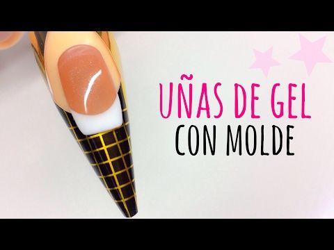 Uñas de Gel rápidas con molde | Tutorial fácil paso a paso - YouTube