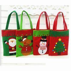 Nuevo Muñeco De Nieve Santa Claus feliz Navidad Boda Caramelo Bolsas de Regalo Decoración Bolsa De Regalo