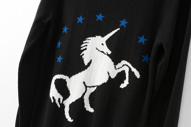nice Sweater Women 2013 Winter Fashion Unicorn Pattern Sweater Styles Pullovers Sweaters Knits For Womens and ladies knitshirts