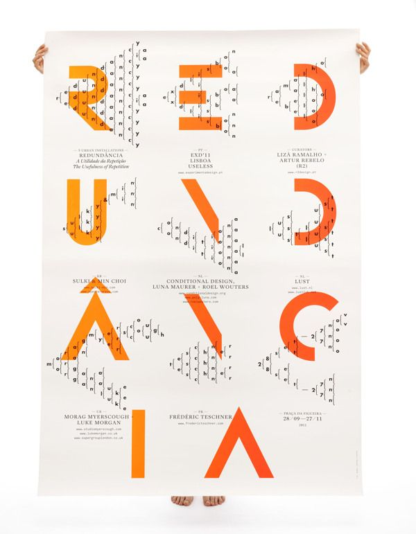 maybeitsgreat:  Redundância Poster for Experimenta Design 2011 by R2 Design from Portugal