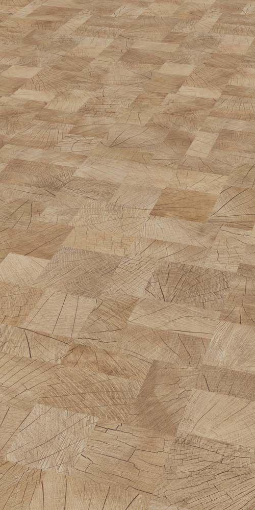 Das Quadratische Muster In Heller Holzoptik Ist Ein Echter Blickfang