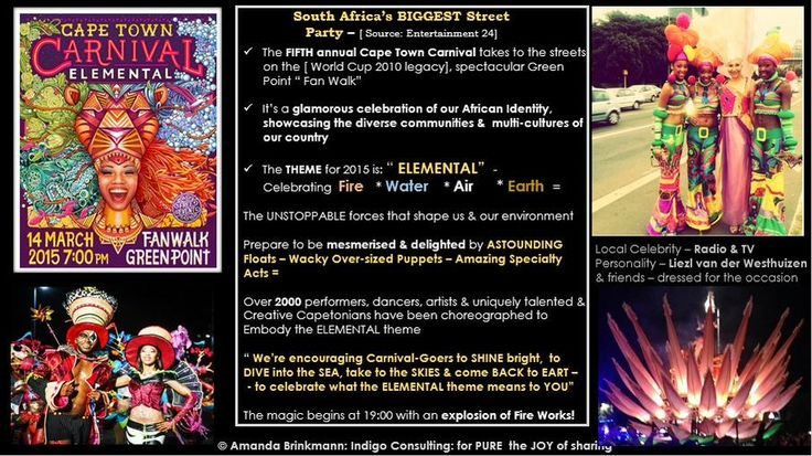 I don't 'DO' crowds & throngs; will be 'participating' through Social Media  Capetonians - UNITE. #CapeTownCarnival