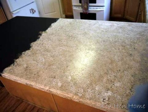refinished kitchen counter tops using a Giani Granite painting kit (available at Wal-mart).