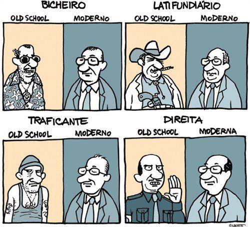 Old School e Moderno, Laerte.