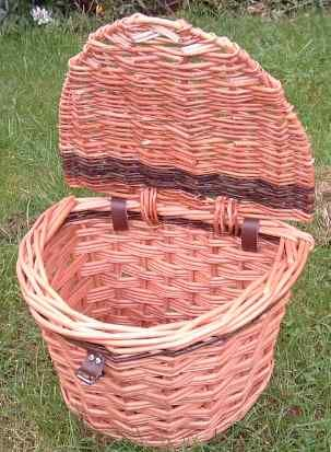 David Hembrow handmade bike baskets Bike basket with lid