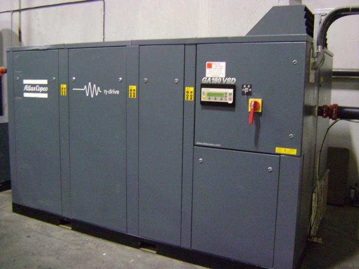 Used Atlas Copco GA180 VSD Air Compressor Compressors