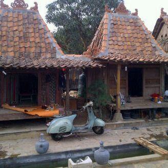 Jineman or mini Javanese wooden house