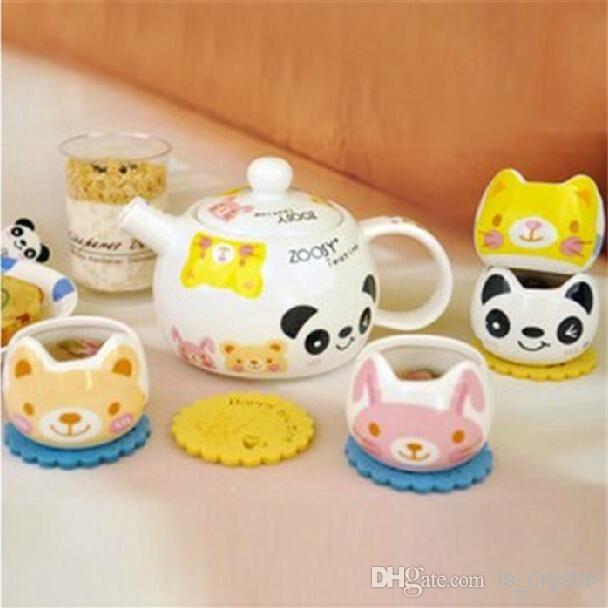 animali cartoon ceramica teiera e tazze set di moda, caffè, bollitore tè e set di