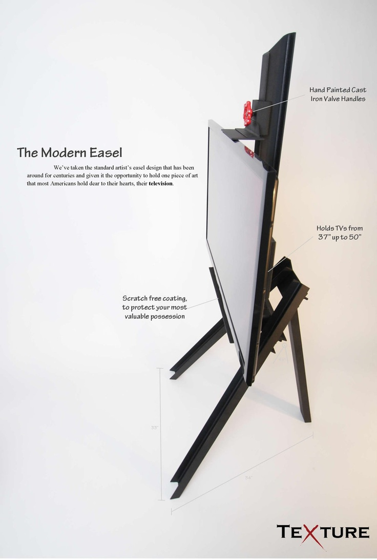 Easel TV Stand.