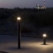 out-sider's brand new Point Sun solar powered and cable free bollard - a sturdy and super flexible urban light element, available in two heights and three standard colours. See website for inspiration for the many potentioal uses!
