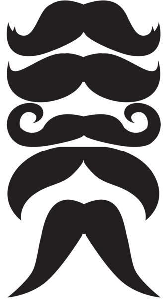 Moustache pour photo rigolote pour dessus carte fête des pères