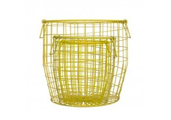 Wire Baskets - Yellow