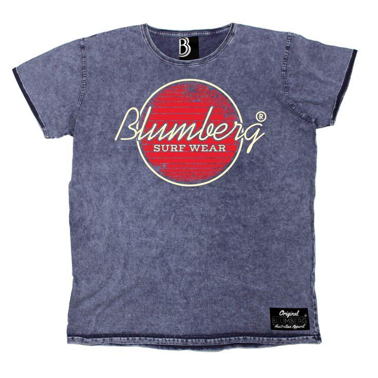 Blumberg Australia Men's Surf Wear Red Design Premium Denim T-Shirt