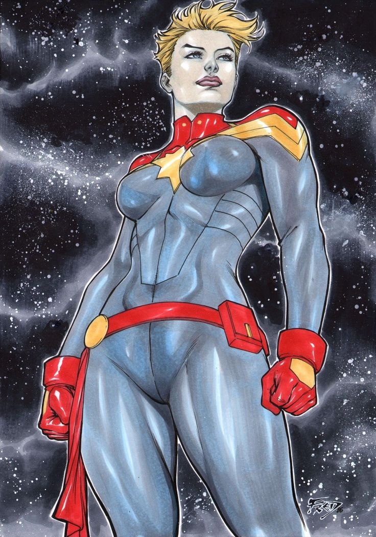 Captain Marvel by Fred Benes Ed Benes Studio | eBay